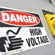 Stock Photo: High voltage sign