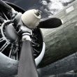 Old aircraft engine — Stock Photo #13961537