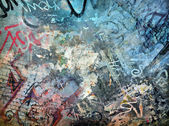 Grunge colorful background, graffiti wall — Stock Photo