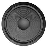 Low frequency audio speaker — Stock Photo