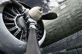 Alte flugmotor — Stockfoto