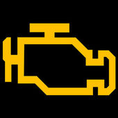 Check engine symbol — Stock Photo