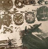 Retro havacılık, grunge arka plan — Stok fotoğraf