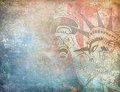 America background, grunge illustration — Stock Photo