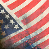 American flag, grunge background — Stock Photo