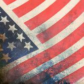 American flag, grunge background — Stock Photo