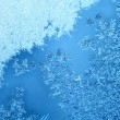 Frost on window — Stock Photo