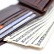 Wallet with money — Stock Photo
