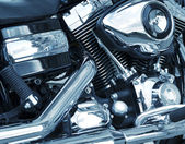 Motorcycle engine closeup — Stock Photo