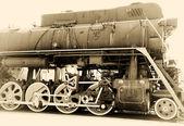 Oude stoom trein vintage — Stockfoto