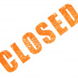 Stock Photo: Word CLOSED