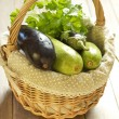 Basket of fresh vegetables — Stock Photo #22512887