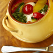 Vegetable ragout with sour cream sauce - Lizenzfreies Foto