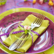 Easter tableware — Stock Photo