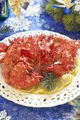 水煮的螃蟹为假期的 — 图库照片