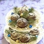 Christmas chocolate cakes — Stock Photo #51470677