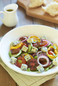 Greek salad with blue cheese — Stock Photo