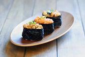 Eel and salmon sushi — Stock Photo