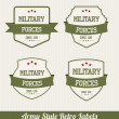Army Style Retro Labels — Stock Vector #27867607