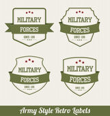 Army Style Retro Labels — Stock Vector