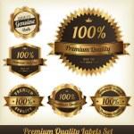 Premium Quality Labels Set — Stock Vector