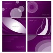 Background Set — Stock Vector