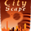 City Scape — Stockvectorbeeld