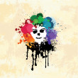 Colorful Splatter Face — Image vectorielle
