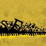 Grunge Letters Design — Stock Vector