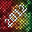 2012 pixel design — Vector de stock
