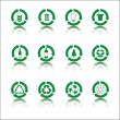 Recycle icon set — Imagen vectorial