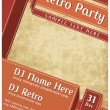 Retro Party Poster — Vector de stock