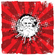 Grungy Old Santa Claus - Christmas Design — Stock Vector