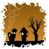 Abstract Autumn Background - Halloween Design — Stock Vector