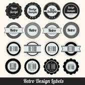 Retro Design Labels — Stock Vector