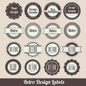 Retro Design Labels — Stock Vector