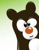Cute Bear Character — Stock Vector