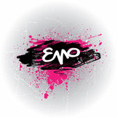 Emo Style Grunge Banner — Stock Vector