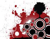 Grunge Red Design — Stock Vector