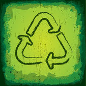Grungy Recycle Symbol — Stock Vector