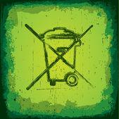 Grungy Recycle Symbol — Wektor stockowy