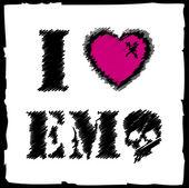 Emo さんは愛 — ストックベクタ