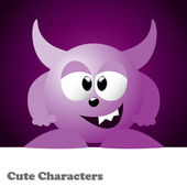 Cute Monster Character — Stock Vector