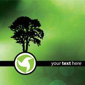Conception d'arbre vert recycle — Vecteur