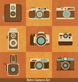 Retro camera set — Stock Vector