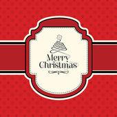 Christmas Design Card — Stock Vector