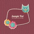 Cute Retro Template — Stock Vector