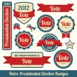 Retro Presidential Election Badges — Stock Vector #28067063