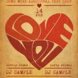 Valentines Party Flyer — Imagen vectorial