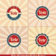 Stock Vector: Retro Presidential Election Badges
